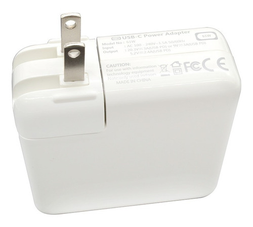 cargador genérico macbook pro 61w tipo c