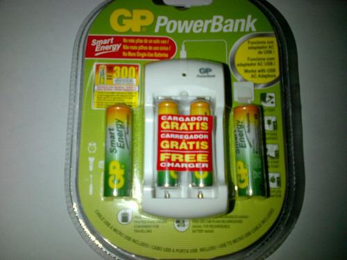 cargador gp pb310 baterias recargables incluidas power bank