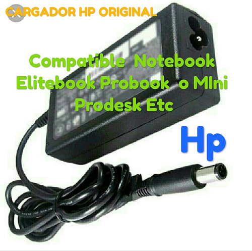 cargador hp original 19.5v 3.33a notebook elitebook probook