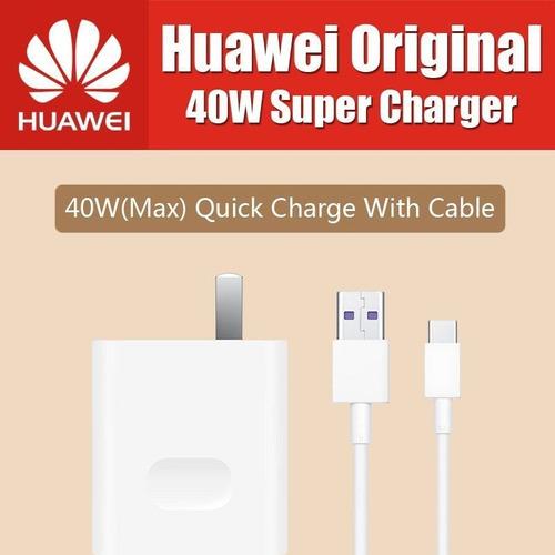 cargador huawei mate 20 pro p30 pro super carga rapida 40 w