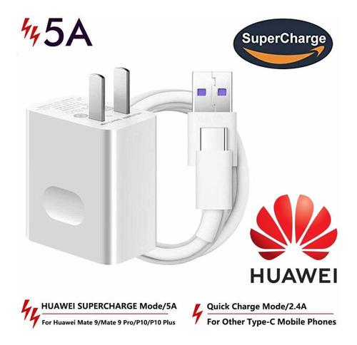 cargador huawei original para mate 9 pro p10 plus tipo c p20 p30 supercharger original