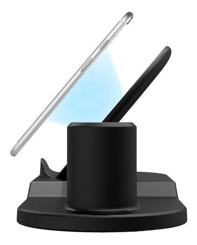 cargador inalámbrico 3 en 1 smartphone+smartwatch+airpods