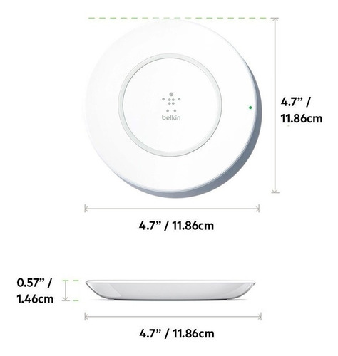 cargador inalámbrico belkin 7 w iphone 8  8 plus x masplay