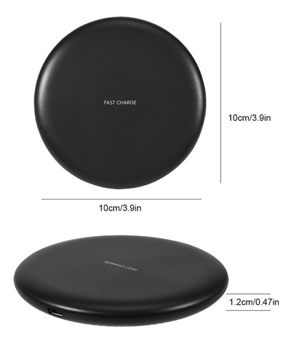 cargador inalambrico carga rápida extra slim iphone xs s9 s8