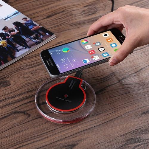 cargador inalambrico escritorio carga rapida iphone samsung