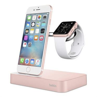 cargador inalámbrico para apple watch + iphone