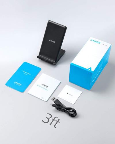 cargador inalambrico - powerwave stand - base + fuente qc3.0