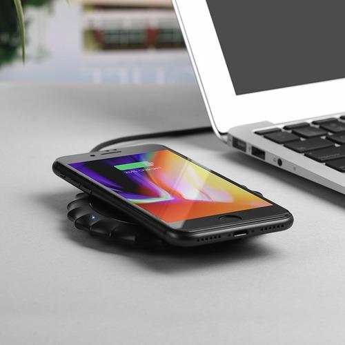 cargador inalambrico qi hoco rápido premium samsung iphone