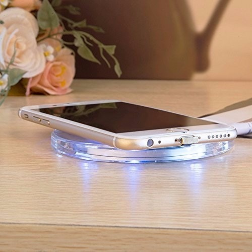 cargador inalambrico qi para iphone 5 5s 5c 6 6s 6 7 plus ®