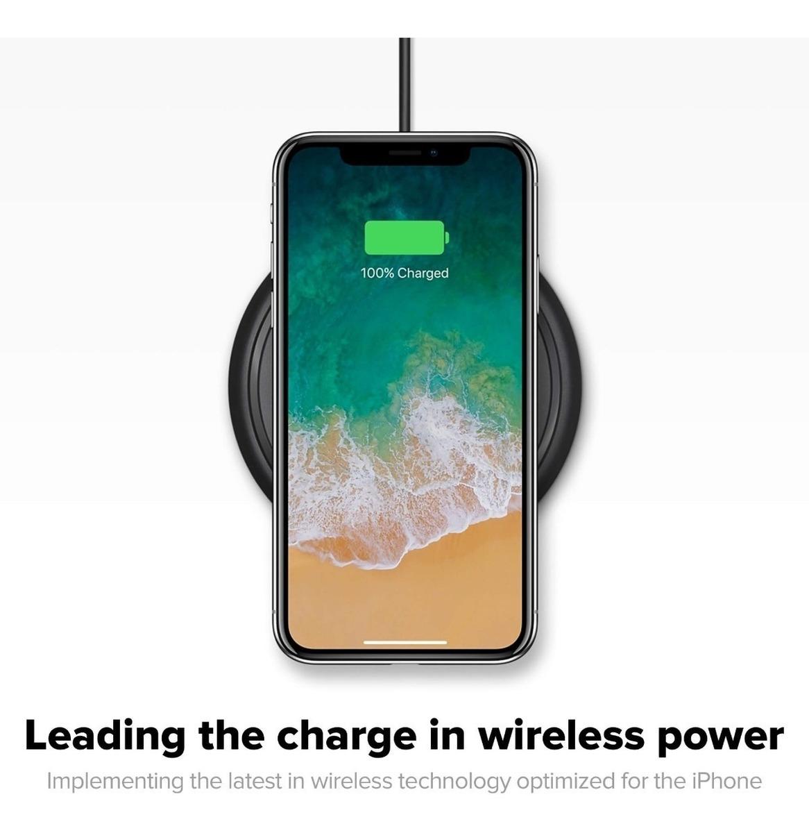1344b1accfc cargador inalámbrico qi para iphone&smartphone negro mophie. Cargando zoom.