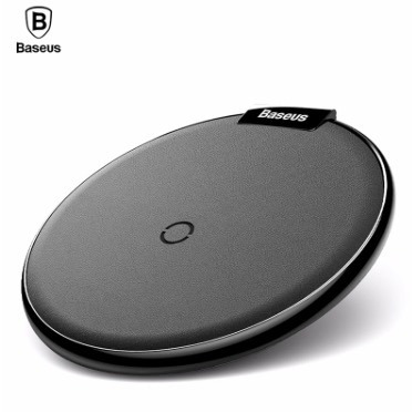 cargador inalámbrico qi rapido iphone android blanco baseus