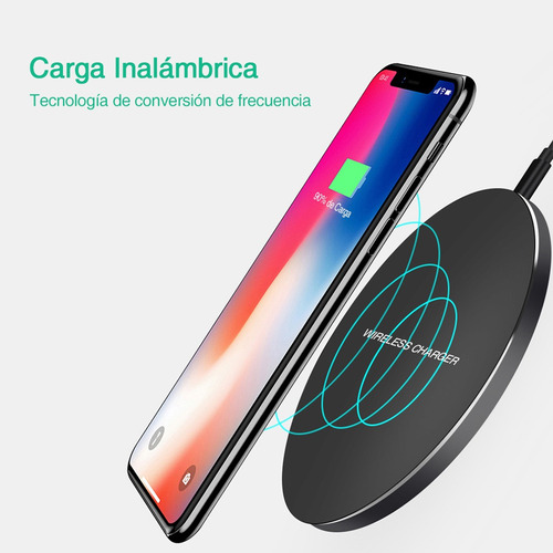 cargador inalámbrico rápido wireless universal glückluz