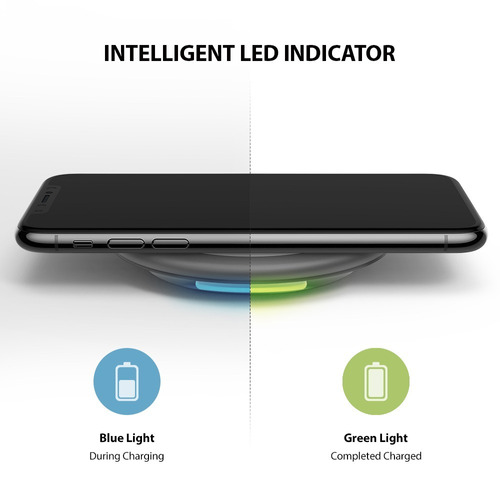 cargador inalambrico ringke carga rapida iphone xs max x 8