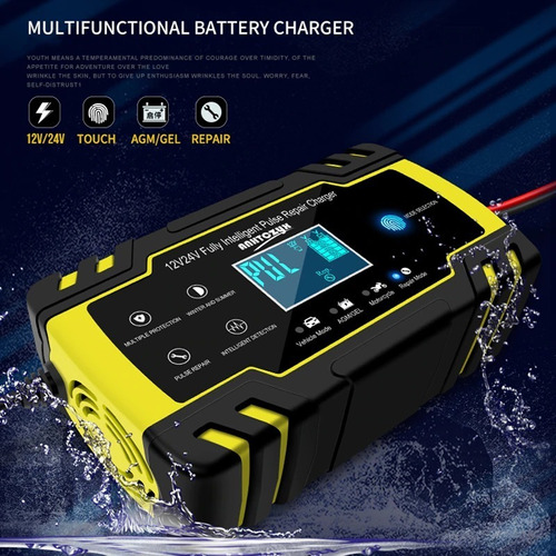 cargador inteligente bateria automovil 12v 24v agm gel plomo