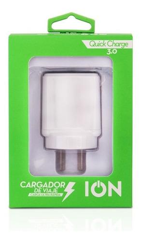 cargador ion ultra fast 3.0 microusb