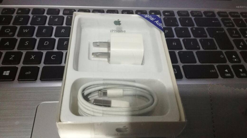 7a6b6be231c Cargador iPhone 5 5s 6 6s 7 Plus Cable + Cubo Apple - S/ 44,90 en ...