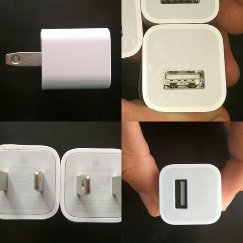 cargador iphone 5 6 6s 6s plus 100% original ipod cubo apple