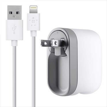 cargador iphone 5/6/7 p pared + cable lightning 2.1a, belkin