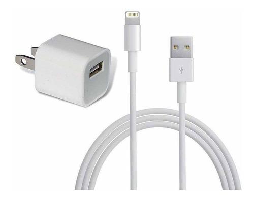cargador iphone  6s 7 7p 8p original. cubo 5w + cable. apple
