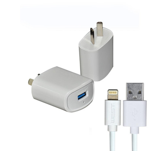 cargador iphone x xs max xr cable datos usb 220v pared