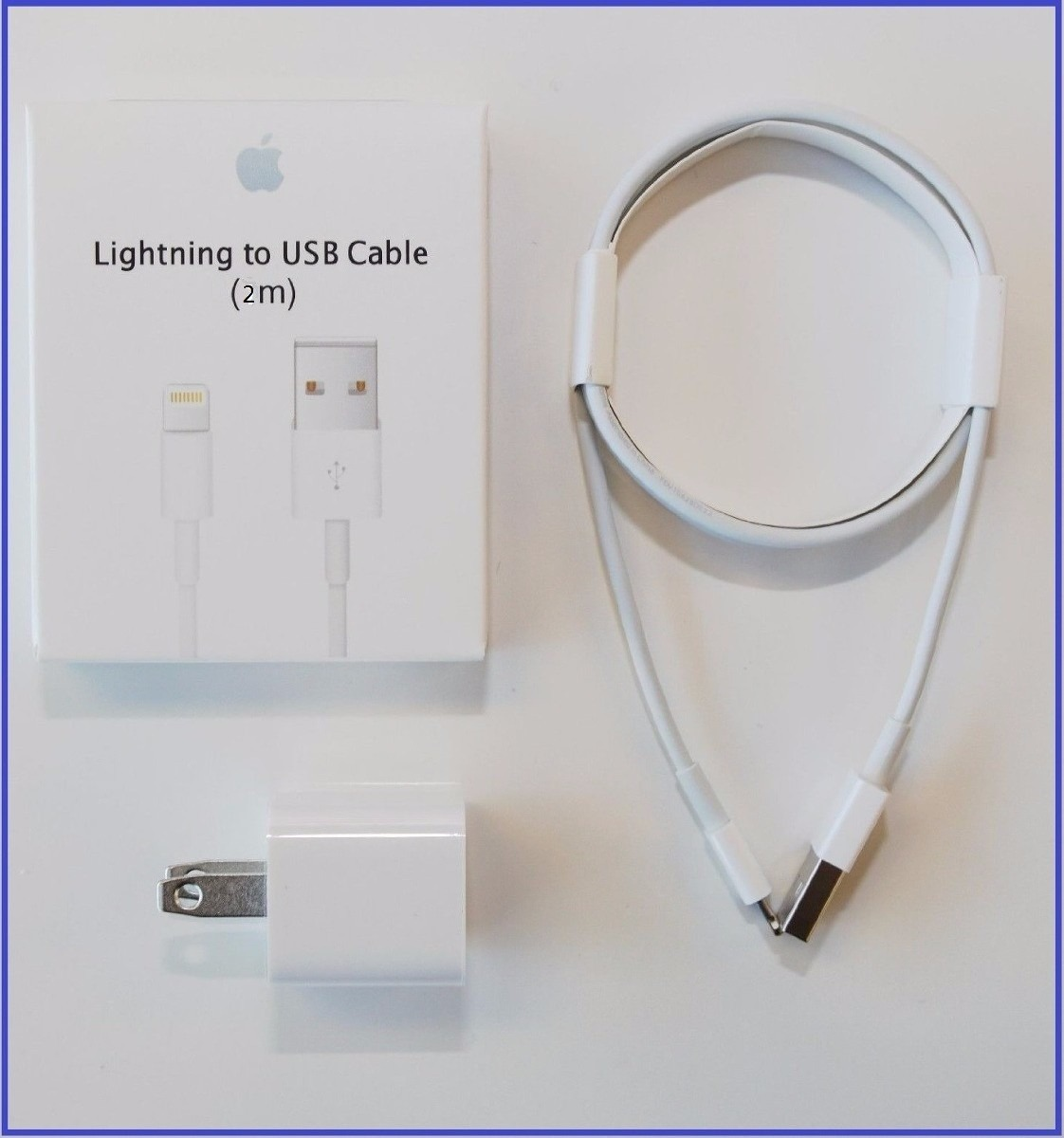 8817ad4577f cargador iphone x/5s/6s 7 8plus+cable 2 metros genuino 100%. Cargando zoom.