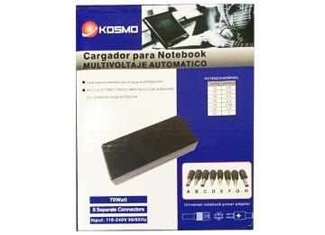 cargador kosmo notebook universal automatico - factura a/b