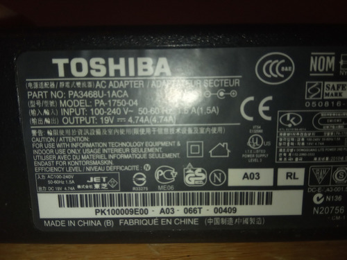 cargador laptop 19v