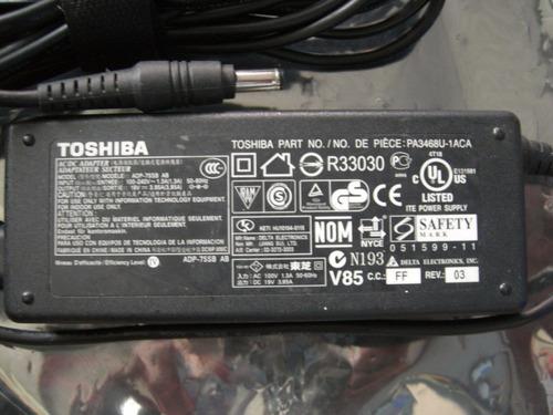 cargador laptop toshiba