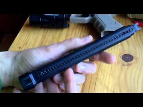 cargador largo pistola we glock 17/18 airsoft