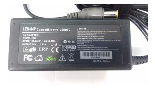 cargador lenovo thinkpad t410 t420 t430 20v 3.25a 65w