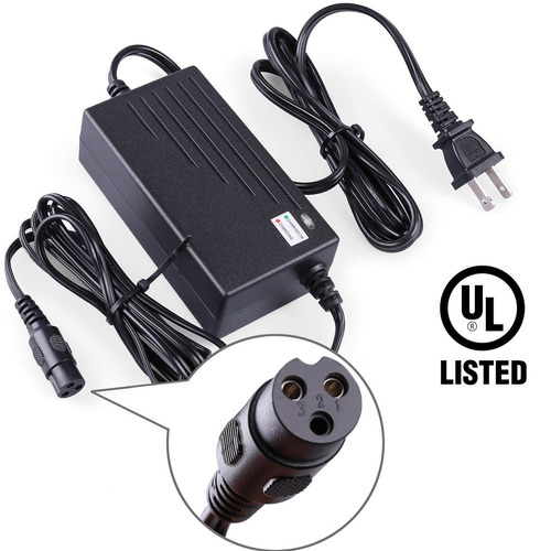 cargador lotfancy 24v 2a electric scooter battery charger