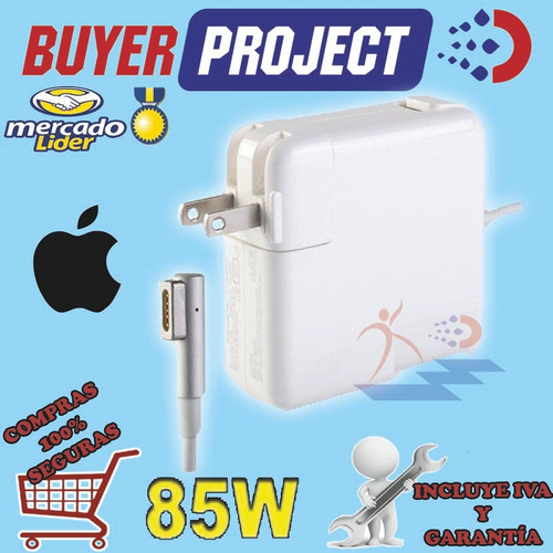 cargador mac apple macbook pro magsafe a1222 18.5v 4.6a 85w