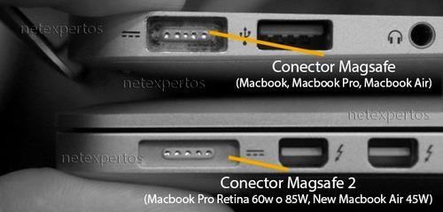 cargador mac apple magsafe 60w 16.5v 3.65a a1184 pro air
