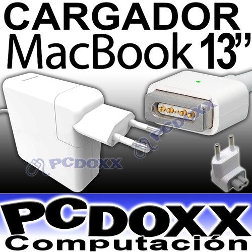 cargador macbook 13'' de 60w mac 16.5v 3.65a punta magsafe