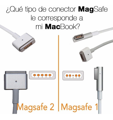 cargador macbook pro air l t 45w 60w 85w mac c 29w 61w 87w