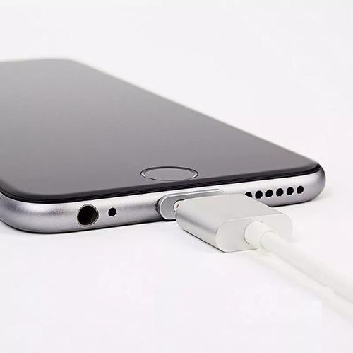 cargador magnetico iphone cable lightning usb aluminio