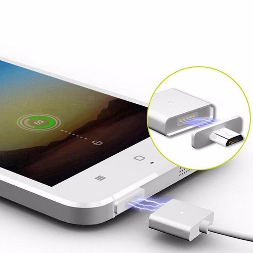 cargador magnético micro usb para android aluminio
