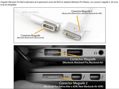 cargador magsafe2 45w apple macbook original +cable extensor