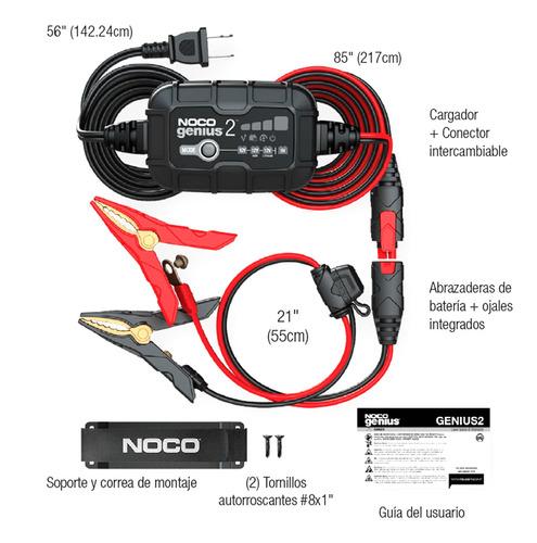 cargador mantenedor de batería 6v 12v 2a genius 2 noco