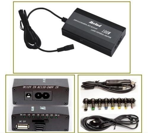 cargador notebook 220v y encendedor auto 12v 24v 120w usb 5v