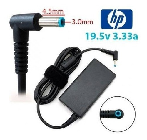 cargador notebook hp 19.5v 3.33a pin azul