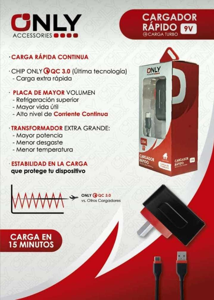 Cargador Only Rojo Tipo C - $ 850,00 en Mercado Libre