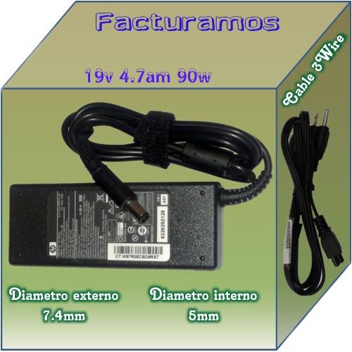 cargador original hp probook 4730s 19v 4.7a 90w mdn