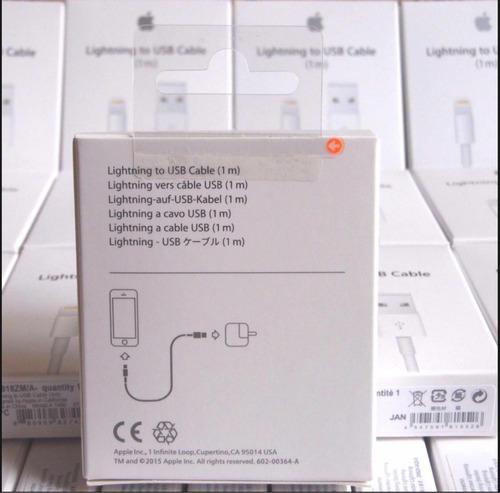 cargador original iphone x 8 7 6 cable + cube apple garantia
