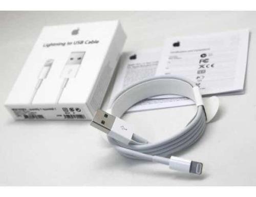 cargador original iphone xs max x 8 7 6 cable + cubo apple