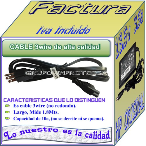 cargador original laptop hp g42-240la 18.5v  3.5a bfn