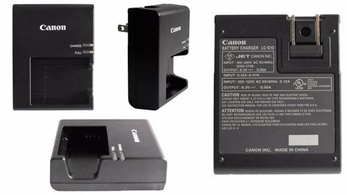 cargador original lp-e10 lce10 camara digital eos rebel t3