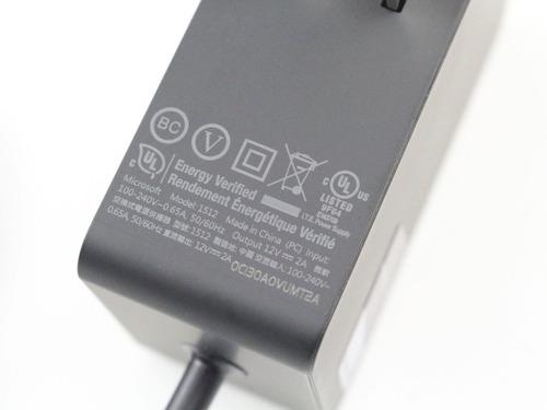 cargador original microsoft surface rt 1512 1513 1516 2a