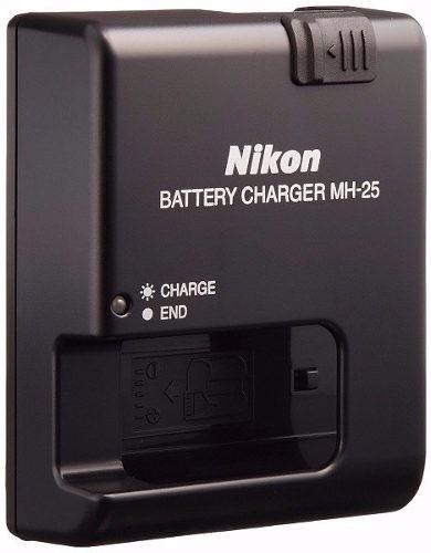cargador original nikon mh-25 baterías enel15 d610 d750 d810