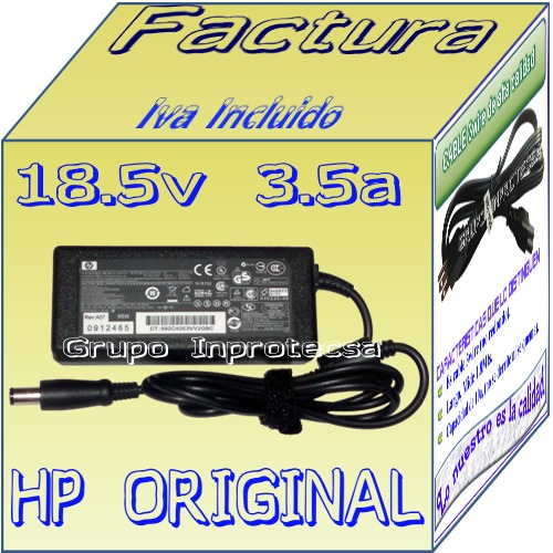 cargador original para laptop hp dv5 dv5-2048la daa mdn